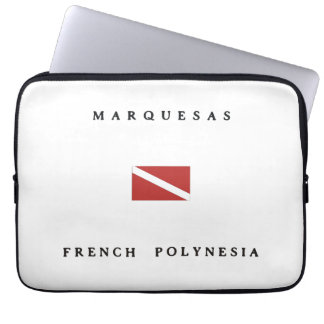 Marquesas French Polynesia Scuba Dive Flag Computer Sleeve