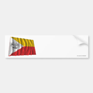 Marquesas Islands waving flag Bumper Sticker