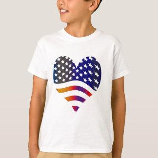 marquez les rayures américaines de troupes t-shirt