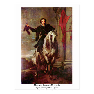Marquis Antonio Brignole By Anthony Van Dyck Postcard