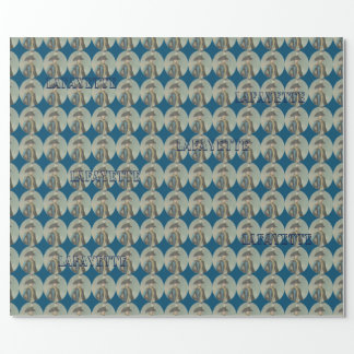 Marquis de Lafayette wrapping paper