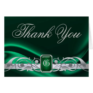Marquis Green Jewel Thank You NoteCard