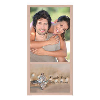 Marquise Diamond Engagement Ring Wedding Thank You Photo Cards