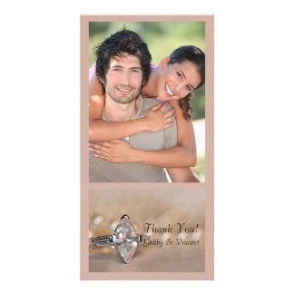 Marquise Diamond Engagement Ring Wedding Thank You Photo Cards