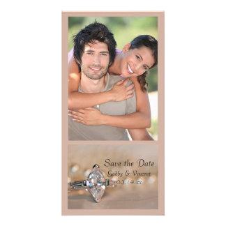 Marquise Diamond Ring Wedding Save the Date Custom Photo Card