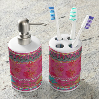 Marrakech Bathroom Sink Set Soap Dispenser