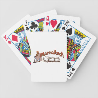 Marrakech Charming Destination Bicycle Playing Cards