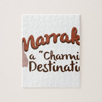 Marrakech Charming Destination Jigsaw Puzzle