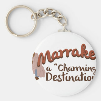 Marrakech Charming Destination Keychain