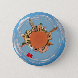 marrakech little planet morocco travel tourism lan 2 inch round button