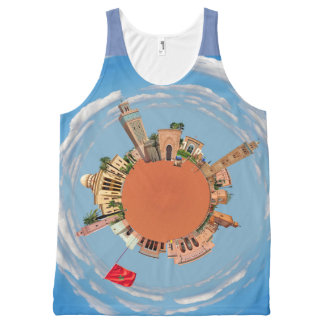 marrakech little planet morocco travel tourism lan All-Over-Print tank top