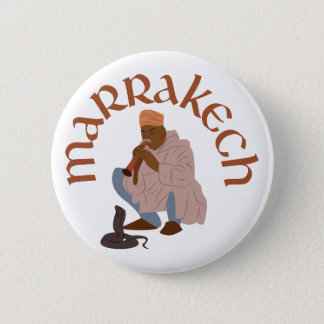Marrakech Snake Charmer 2 Inch Round Button