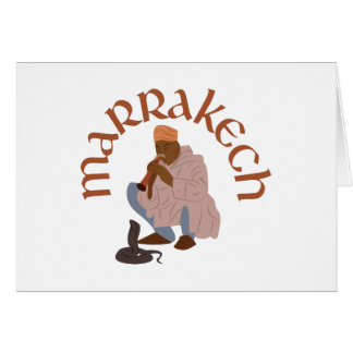 Marrakech Snake Charmer Card