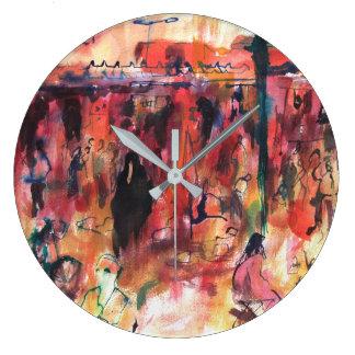 Marrakesh Market Large Clock