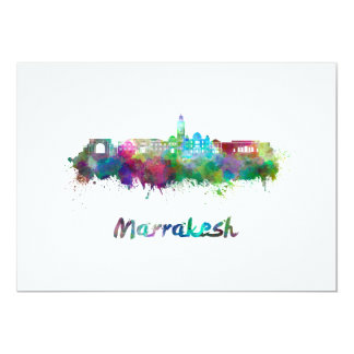 Marrakesh skyline in watercolor card