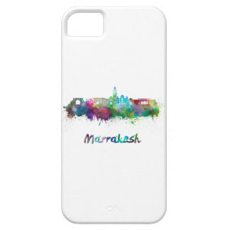 Marrakesh skyline in watercolor iPhone 5 cases
