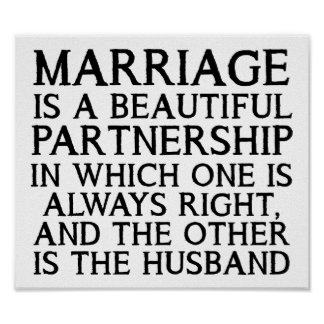 Marriage Arguement Funny Poster