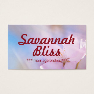 Marriage broker or other profession customizable business card