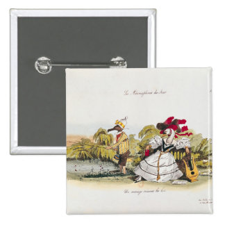 Marriage by the Book 2 Inch Square Button