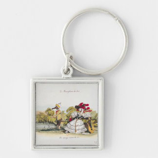 Marriage by the Book Silver-Colored Square Keychain