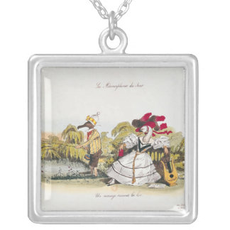 Marriage by the Book Silver Plated Necklace