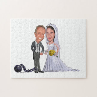 MARRIAGE CARICATURES - JOINING THE PARTS JIGSAW PUZZLE