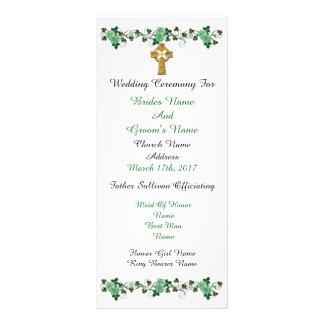 Marriage ceremony program Irish theme Full Colour Rack Card