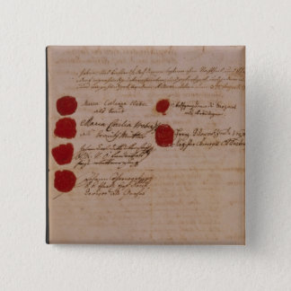 Marriage certificate of Wolfgang,Mozart and Weber 2 Inch Square Button