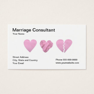 Marriage Consultant Business Card