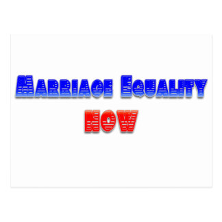 Marriage Equality Now! Postcard