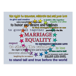 Marriage Equality Postcard