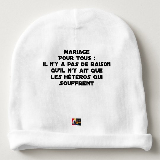 Marriage for All: there is no reason only it Baby Beanie