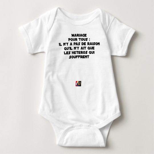Marriage for All: there is no reason only it Baby Bodysuit