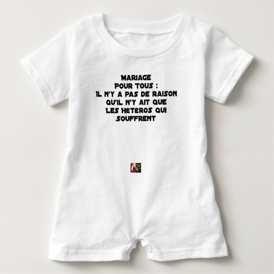 Marriage for All: there is no reason only it Baby Romper