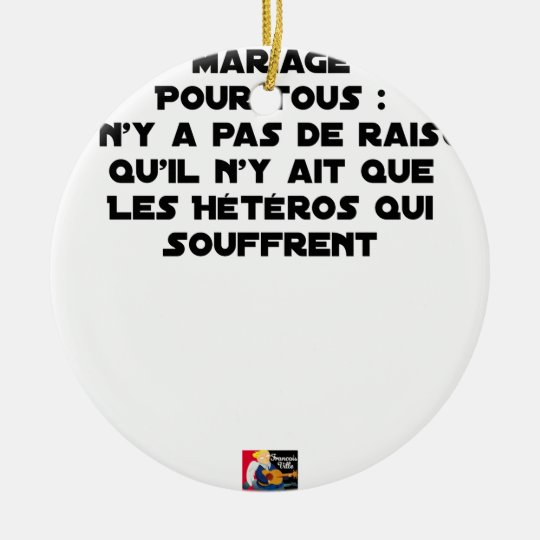 Marriage for All: there is no reason only it Ceramic Ornament