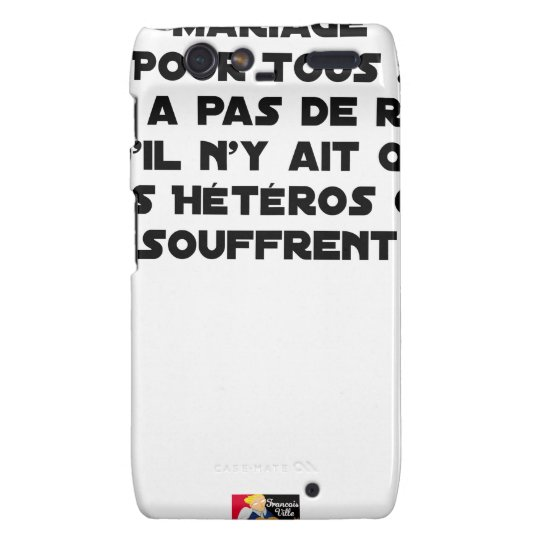Marriage for All: there is no reason only it Droid RAZR Cases