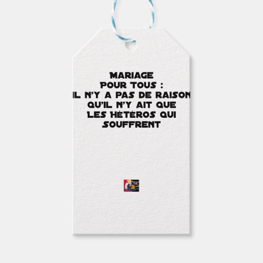 Marriage for All: there is no reason only it Gift Tags