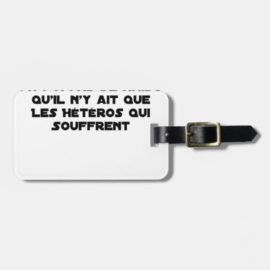 Marriage for All: there is no reason only it Luggage Tag