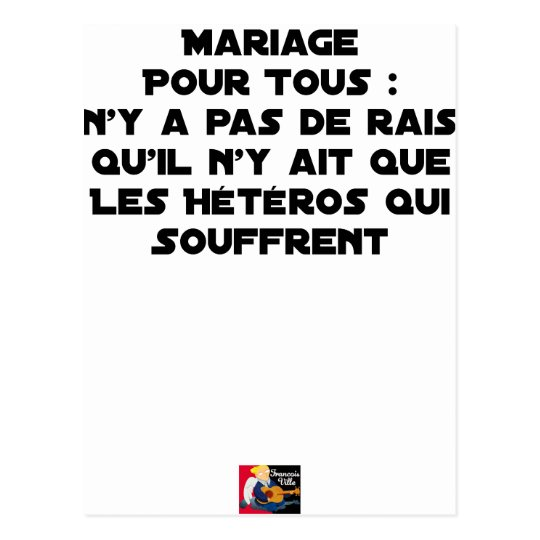Marriage for All: there is no reason only it Postcard