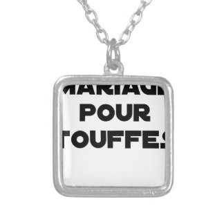MARRIAGE FOR TUFTS - Word games Silver Plated Necklace