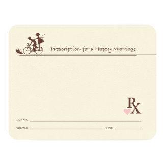 Marriage Guest Book Cards Rx Doctor Prescription