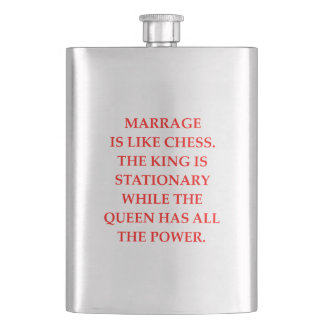 MARRIAGE HIP FLASK