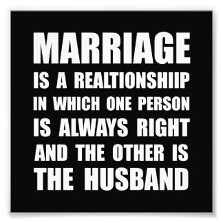 Marriage Husband Photographic Print