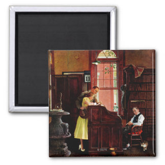 Marriage License by Norman Rockwell Magnet
