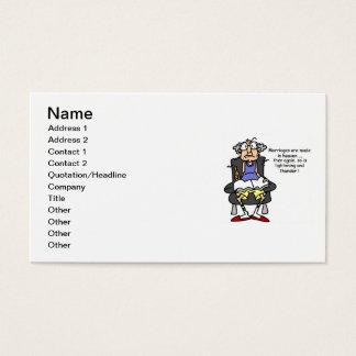 Marriage, Lightning, Thunder Humor Business Card