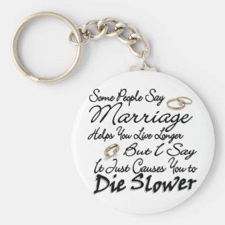 Marriage Live Longer or Die Slower Basic Round Button Keychain