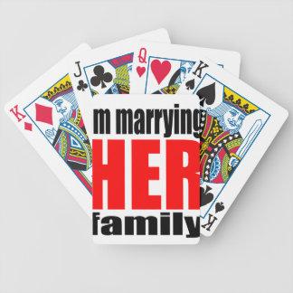 marriage marrying her family joke qoute bridal new poker deck