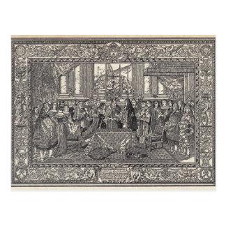 Marriage of Louis XIV Postcard