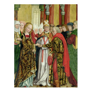 Marriage of the Virgin, from the Dome Altar, 1499 Postcard