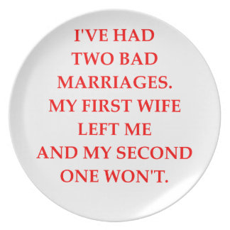 MARRIAGE PARTY PLATES
